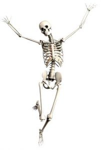 image of a skeleton dancing with joy